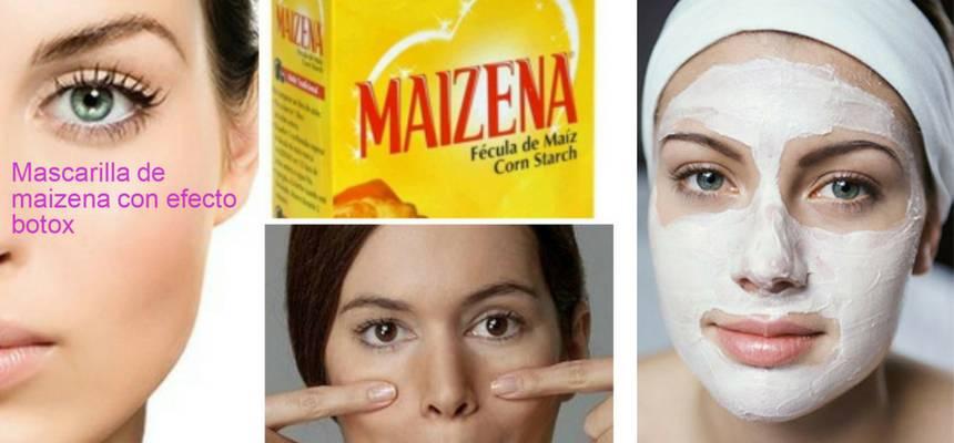 Mascarilla efecto Botox con Maicena