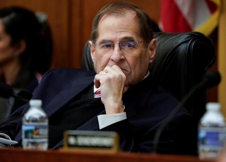 Presidente de la Comisión de Justicia de la Cámara de Representantes, el demócrata Jerrold Nadler, durante una audiencia en el Capitolio. 26 de marzo de 2019/ FOTO: REUTERS/Joshua Roberts
