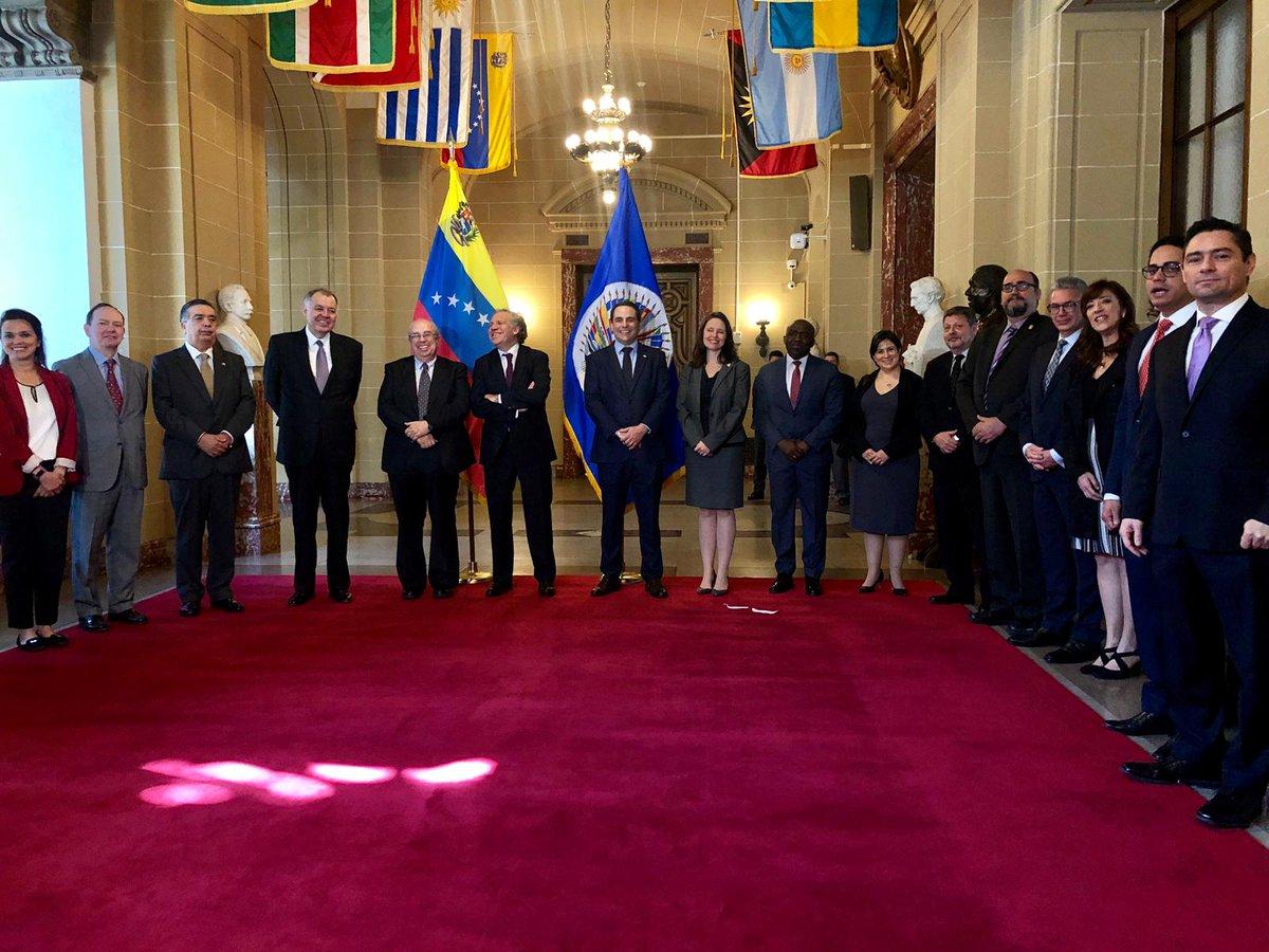 Gustavo Tarre Briceño asume oficialmente la representación de Venezuela ante la OEA