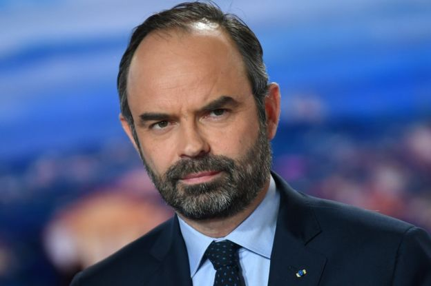 El primer ministro francés, Edouard Philippe, posa en el canal de televisión francés TF1 studios, el 7 de enero.