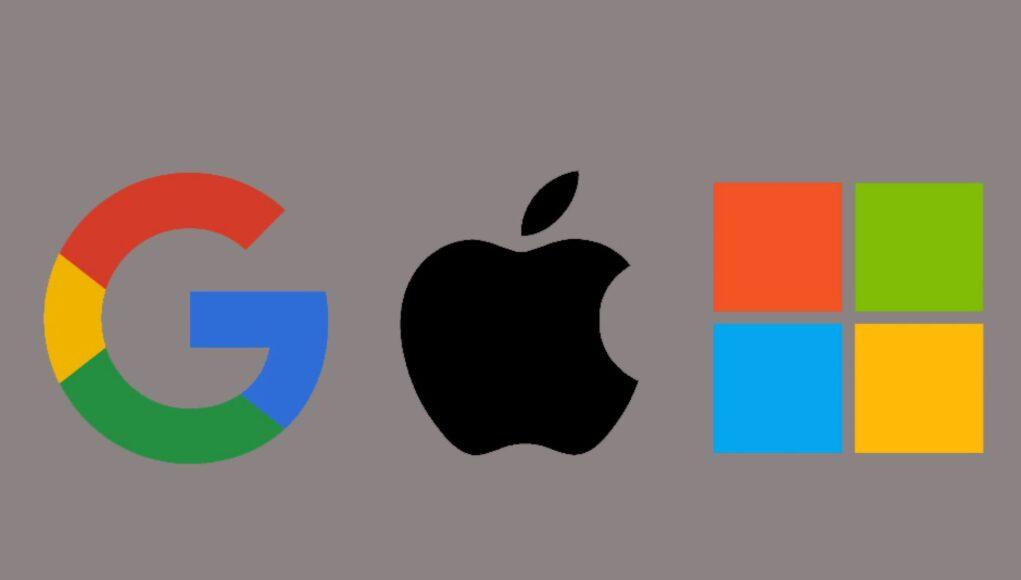 Google, Apple y Microsoft