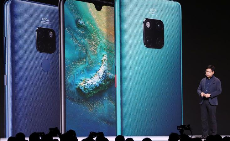 Huawei lanzó su gama de teléfonos inteligentes Mate 30
