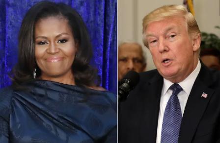 """Michelle Obama habló sobre las audiencias de juicio político """"surrealistas"""" de Trump"""
