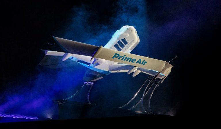 Amazon presenta un nuevo avión no tripulado Prime Air