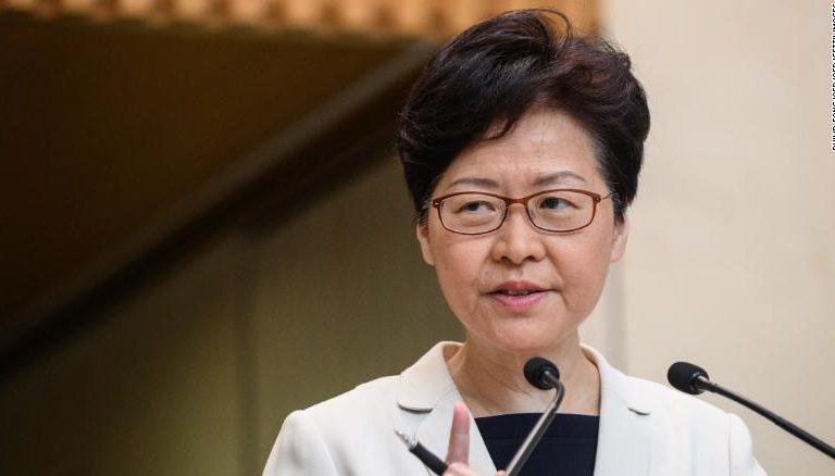 Jefa del Ejecutivo de Hong Kong recibe apoyo de Pekín en medio de crisis en la ciudad china