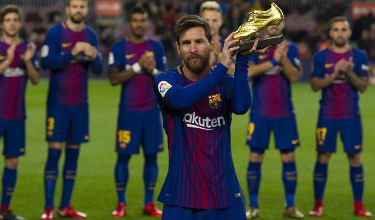 Messi recibe su sexta Bota de Oro como máximo goleador de Europa