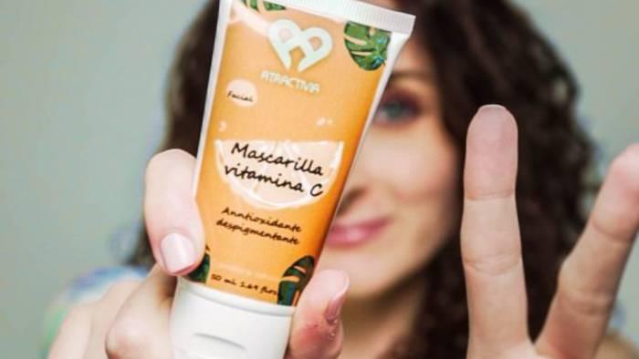 Mascarillas para la piel de vitamina C en Amazon
