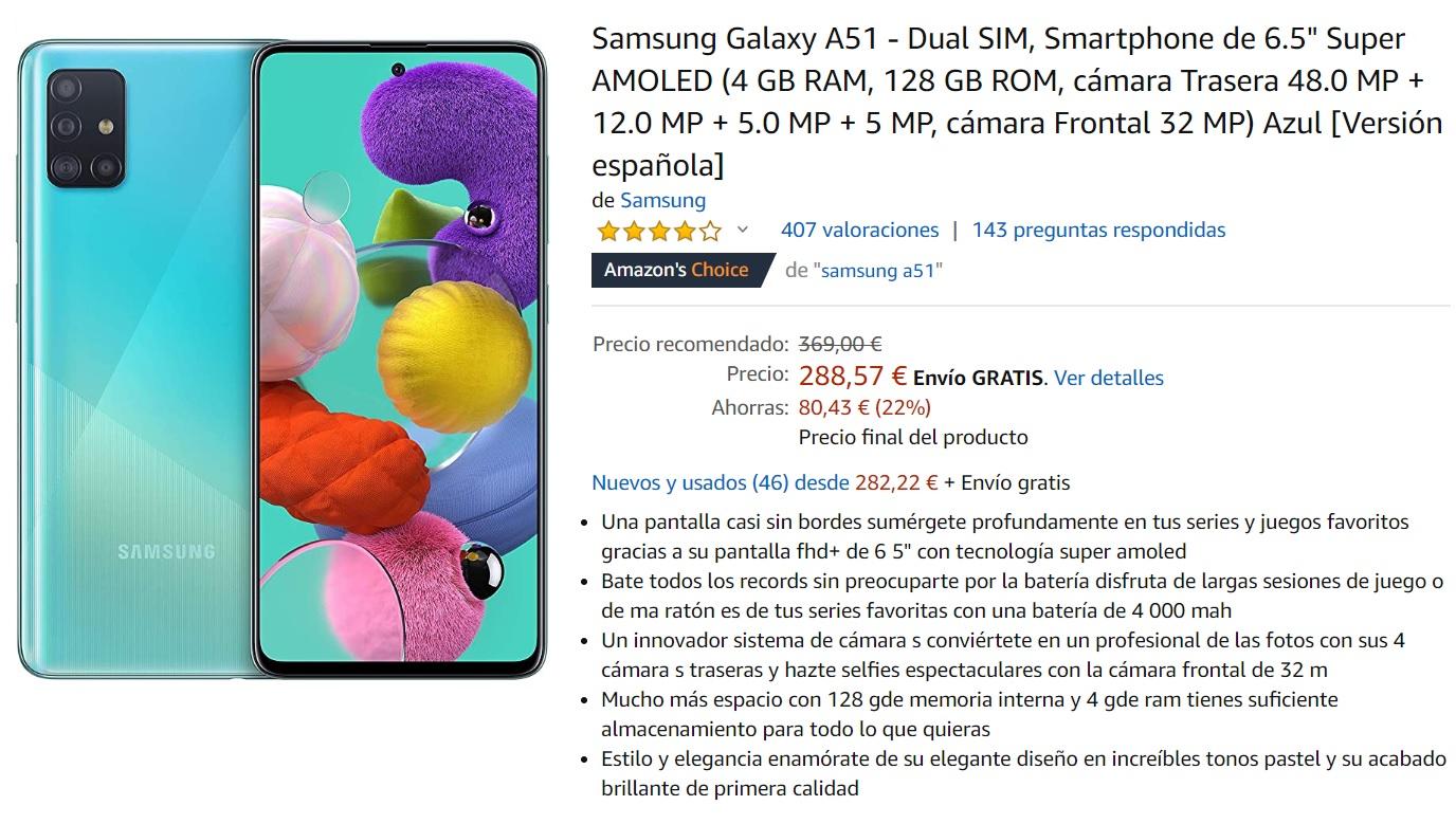 El Samsung Galaxy A51 es un Gama media nuevo que goza de buen rendimiento y batería, pero su performance es de de teléfono económico, con muchas pegas de cara a un rendimiento óptimo para tareas pesadas.