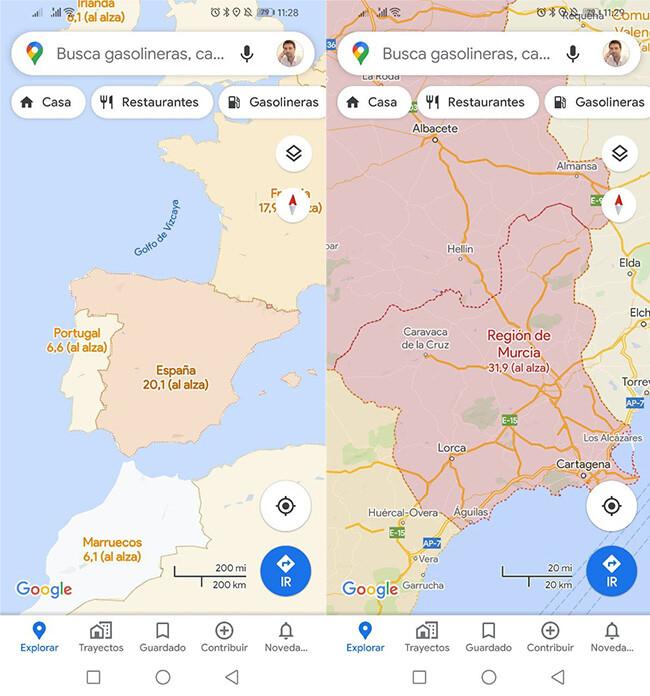 Google Maps Coronavirus 3