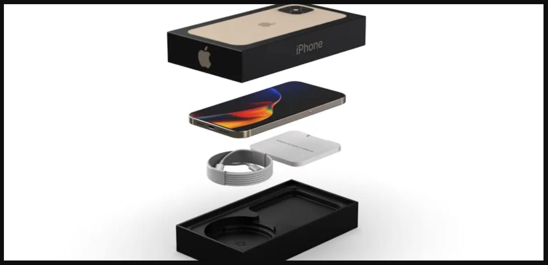 iPhone 12 sin cargador, sin auriculares