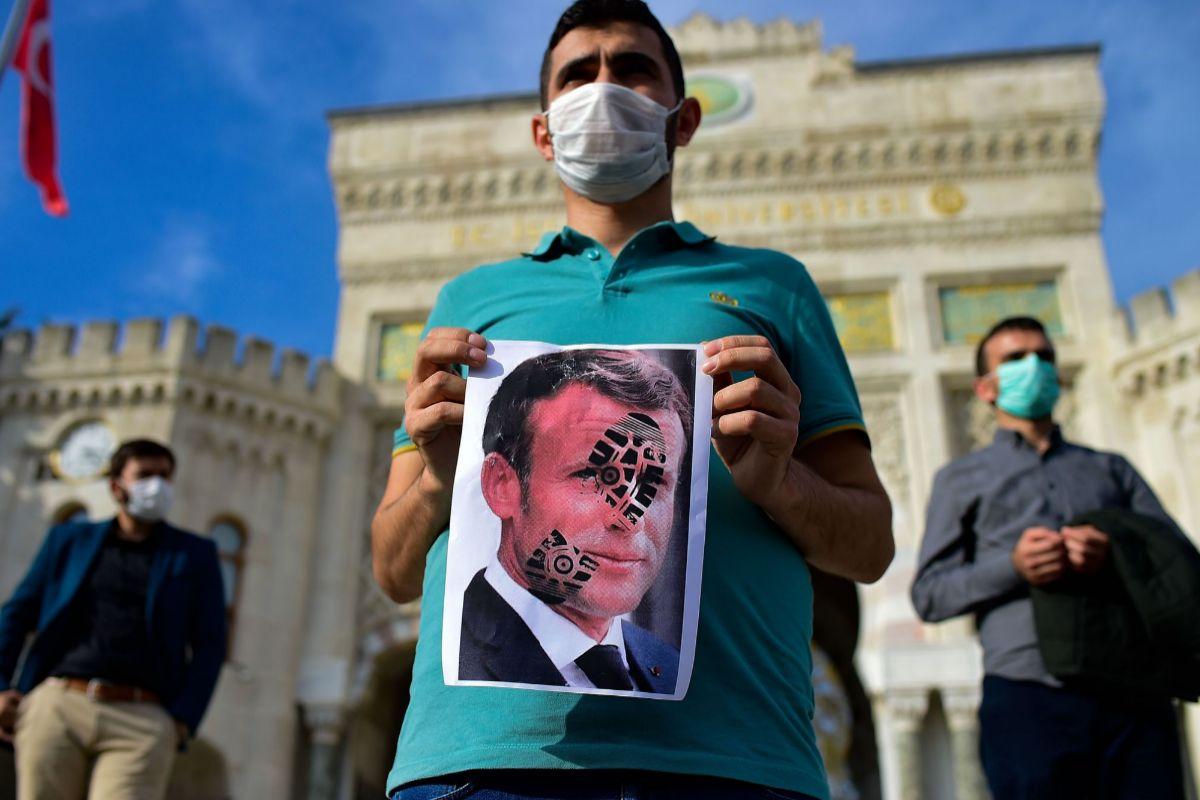 protesta contra Macron