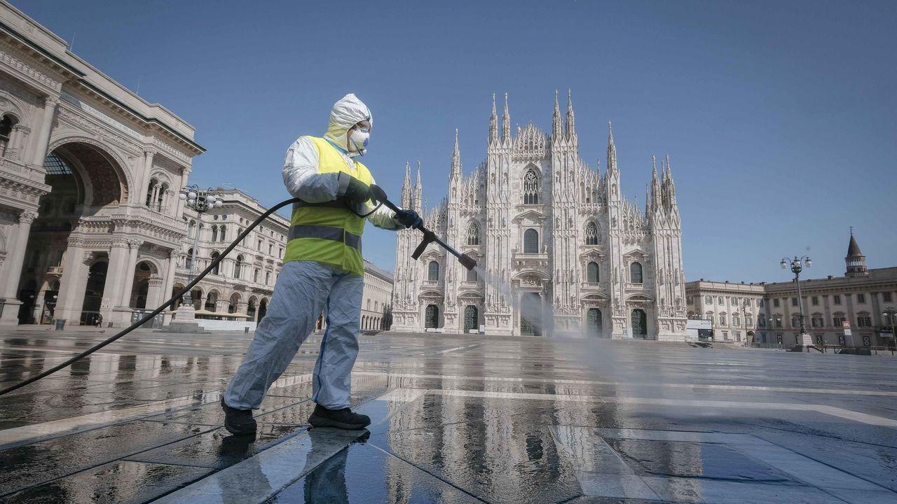 Nuevamente se llevan a cabo las limpiezas en sitios publicos en toda Italia